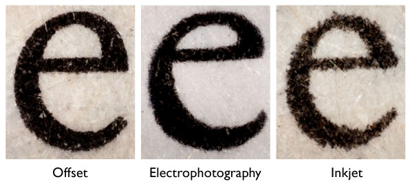 Photo-micrographs of text