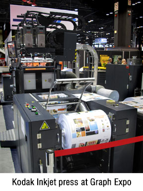 Kodak inkjet press at Graph Expo